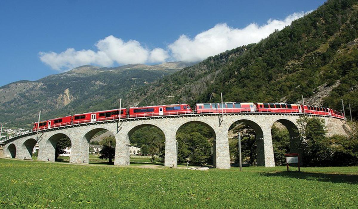 Mapa- Bernina Express
