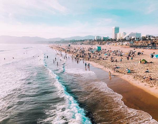 praia em Santa Monica
